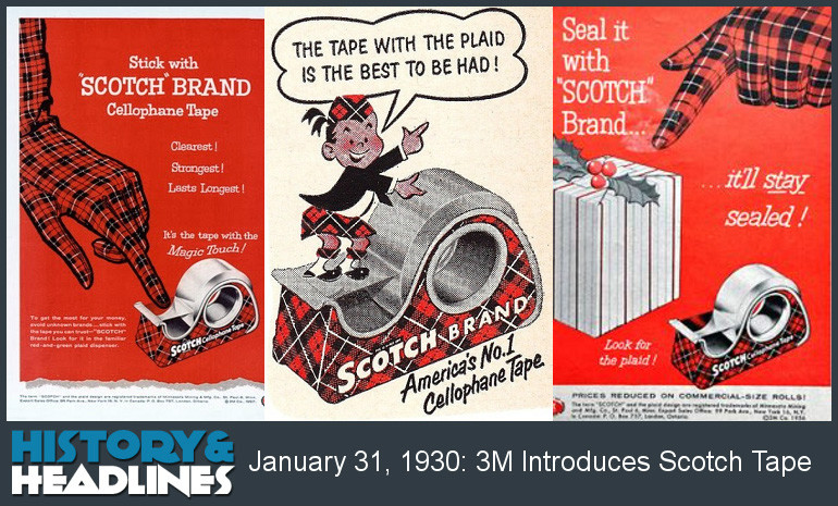 Scotty McTape And History Of Scotch® Brand Tape | Image by www,historyandheadlines.com