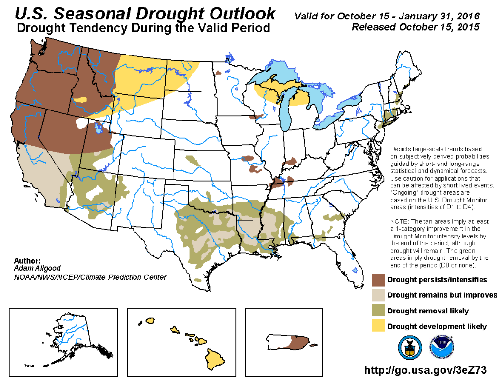 Winter Season Drought Outlook | Image by