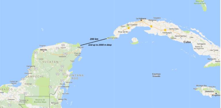 Yucatan Strait Map