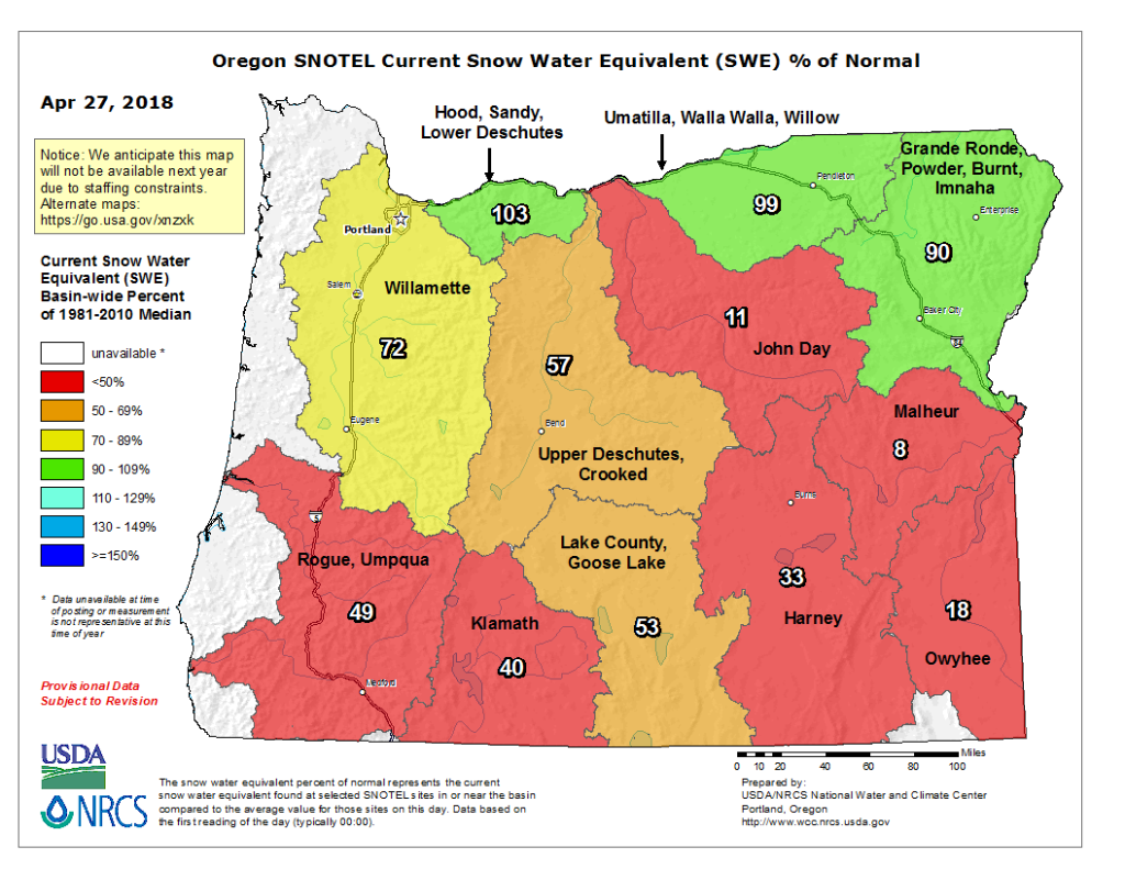 Water Equivalent Map