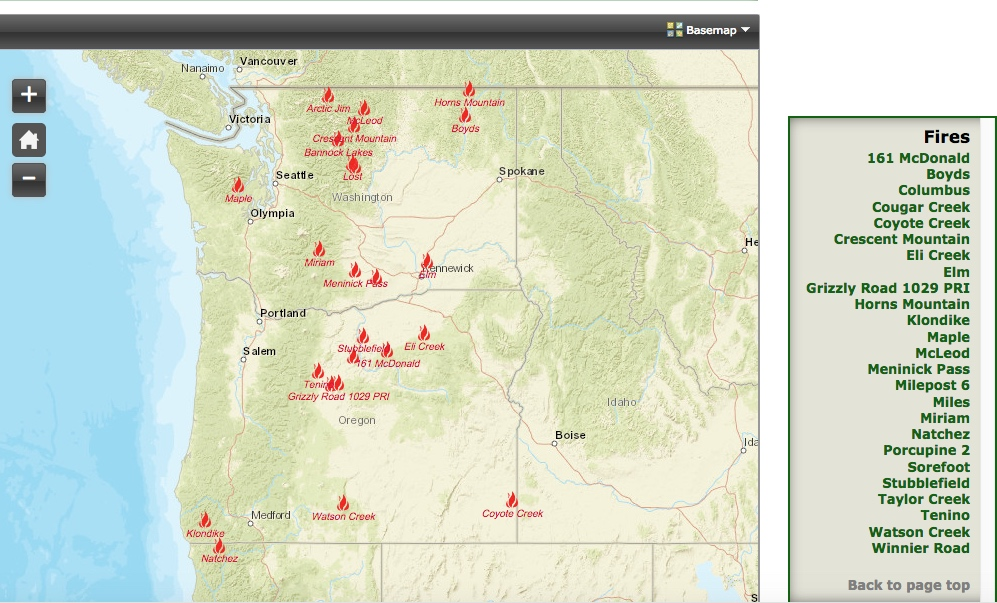 Latest Wildfires