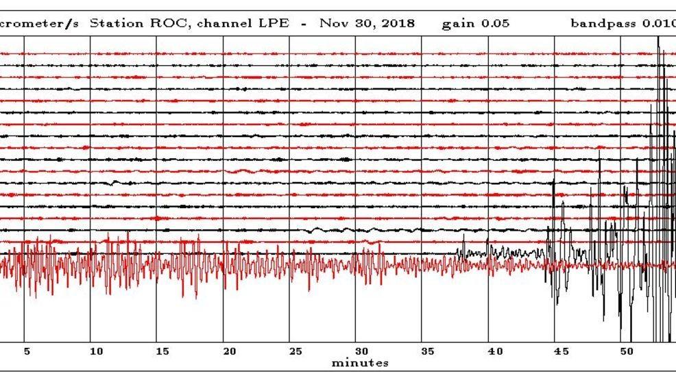 Seismograph Tracing